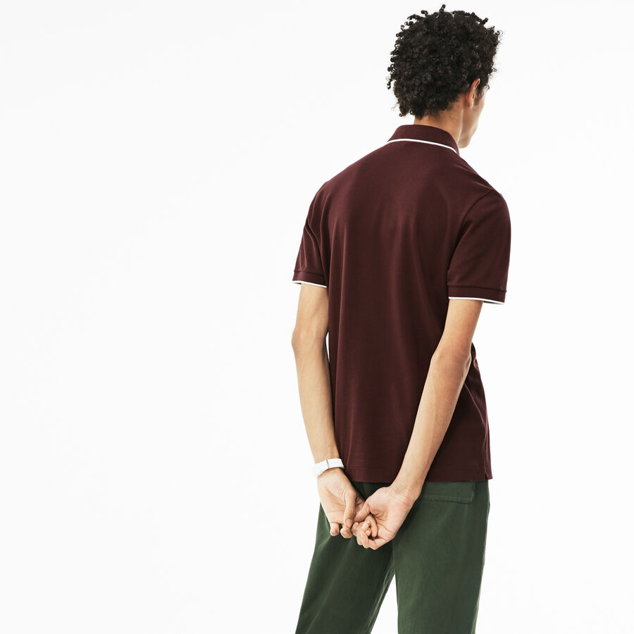 Herren LACOSTE Regular Fit Poloshirt aus Stretch-Piqué
