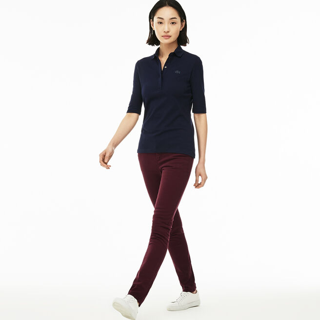 Slim Fit Damen-Jeans aus Baumwoll-Denim mit Stretch