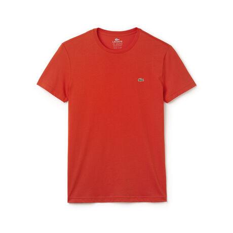 Camiseta regular fit masculina de algodão com gola redonda