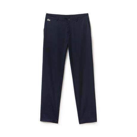 Calça chino Lacoste SPORT de golfe masculina em gabardine técnica ultra-dry