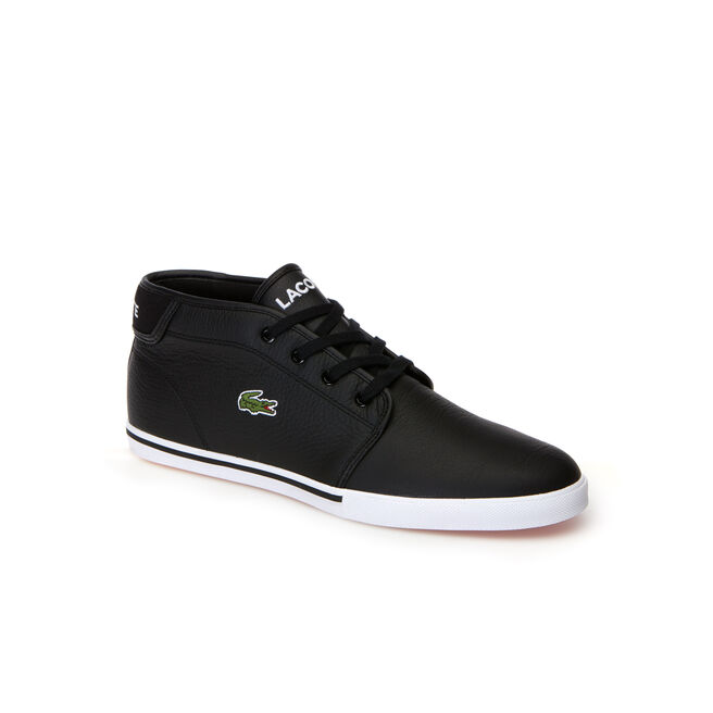 Men's Ampthill trainers in leather with piping