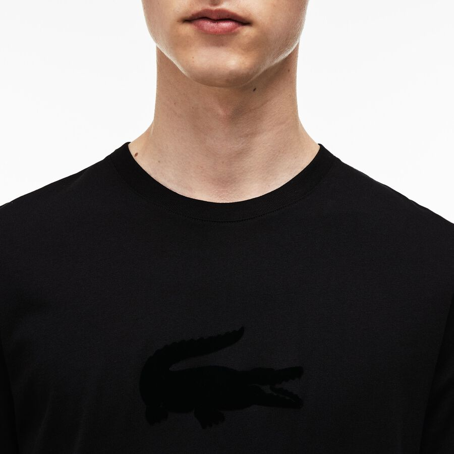 Men's Crew Neck Oversized Crocodile Jersey T-shirt