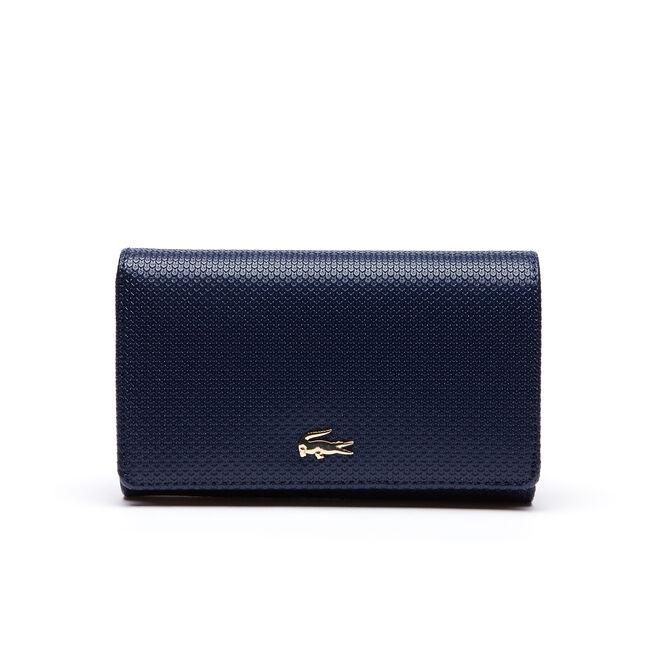 Women's Chantaco Bicolor Piqué Leather Six Card Wallet