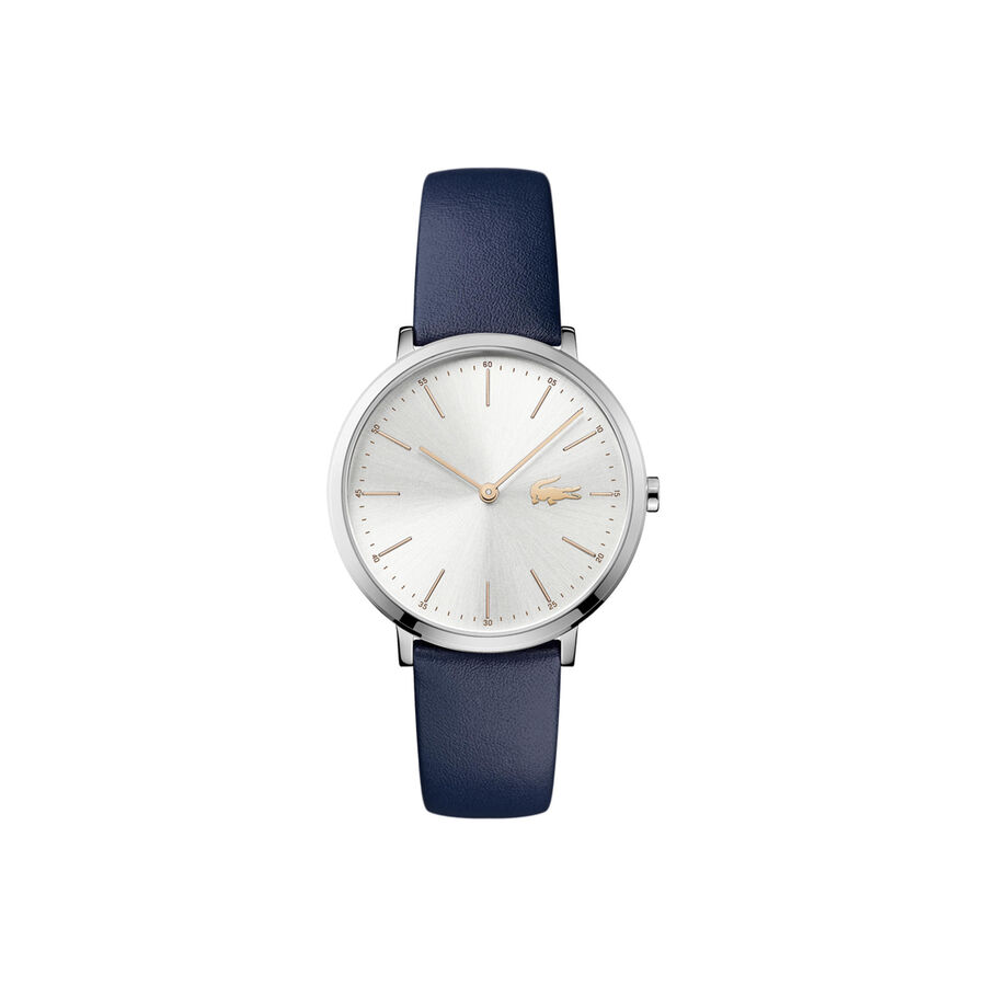 Women's Moon Ultra Slim Watch with Blue Leather Strap