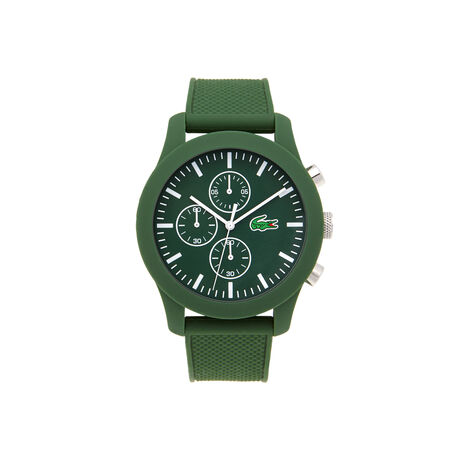 Lacoste.12.12 chronograph Watch - green silicone strap