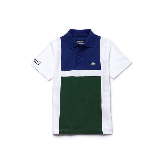 Boys' Lacoste SPORT Tennis Colorblock Ultra-Light Cotton Polo