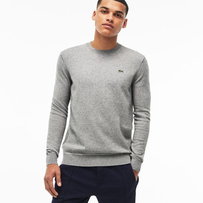 Herren-Pullover aus Baumwolle und Kaschmir-Jersey LACOSTE L!VE