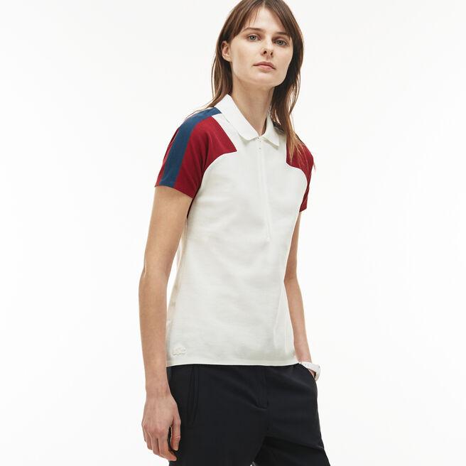 Slim Fit Damen-Polo aus Piqué LACOSTE MADE IN FRANCE