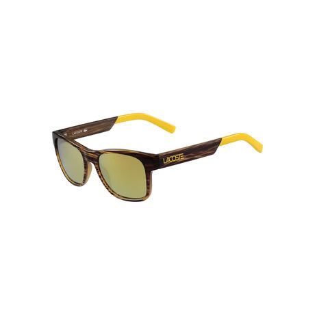 Sportliche Sonnenbrille mit verspiegelten Gläsern