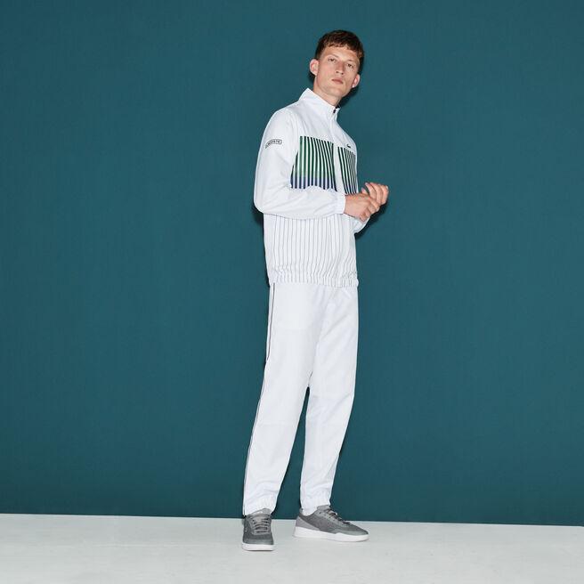 Herren-Trainingsanzug gestreift Logo-Design LACOSTE SPORT TENNIS