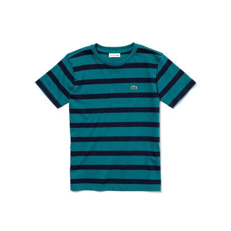 Jungen-T-Shirt aus gestreiftem Baumwolljersey