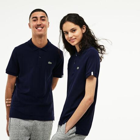 Slim Fit Unisex-Poloshirt aus Petit Piqué LACOSTE L!VE
