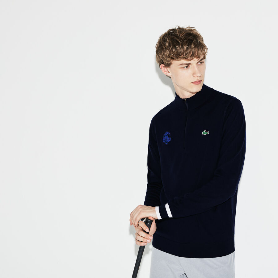 Men's Lacoste SPORT Ryder Cup Edition Zip Neck Jersey Golf...