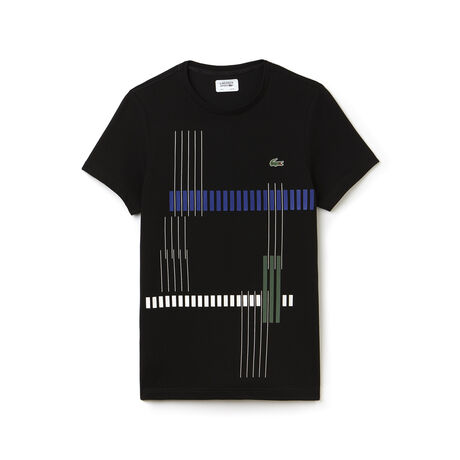 Men's Lacoste SPORT Tennis Striped Design Tech Jersey T-shirt