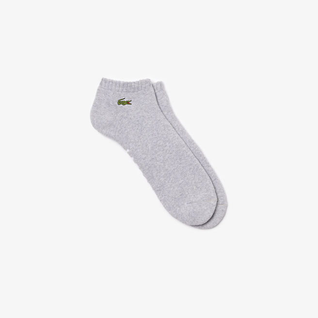 Men's Lacoste SPORT low-cut socks in solid bouclé jersey