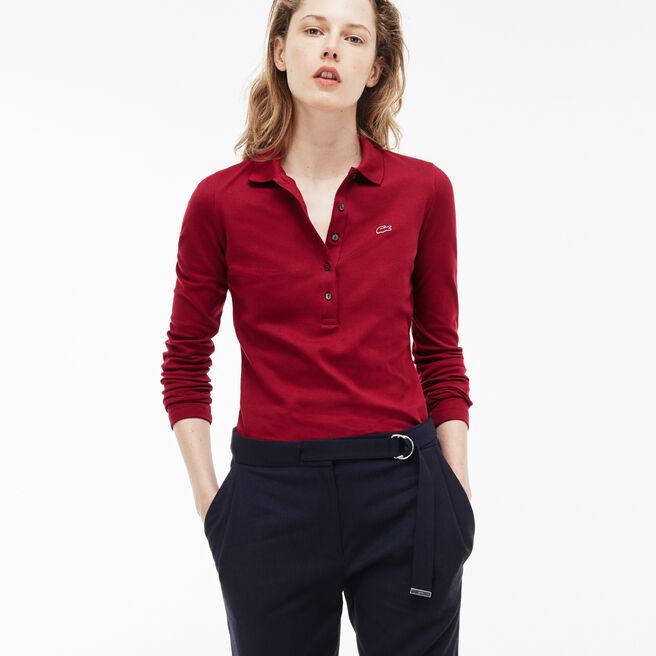 Women's Lacoste Slim Fit Stretch Mini Piqué Polo