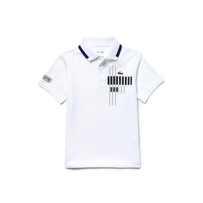 Boys' Lacoste SPORT Tennis Brand Design Technical Piqué Polo