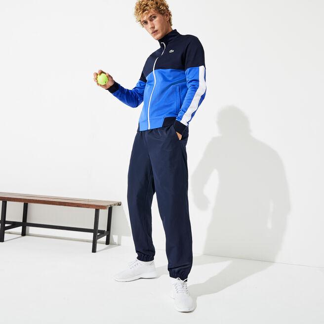 Men's Lacoste SPORT Tennis trackpants in diamond weave taffeta