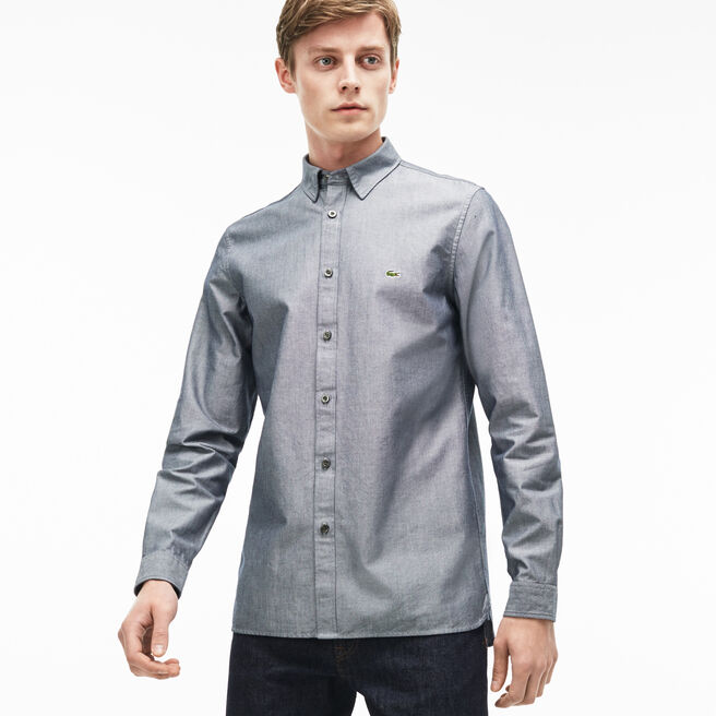 Men's Slim Fit Cotton Piqué Shirt