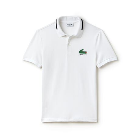 Men's Lacoste Slim Fit Graphic Print Stretch Mini Piqué Polo
