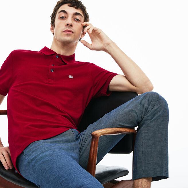 Polo Lacoste slim fit en petit piqué stretch uni
