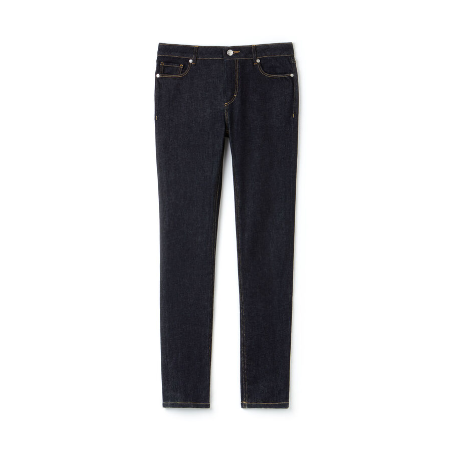 Jean slim fit en denim de coton stretch uni