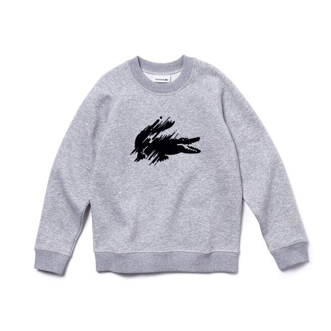 Sweatshirt Garçon en molleton avec crocodile floqué