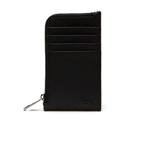 Porte-cartes zippé Chantaco en cuir piqué mat uni