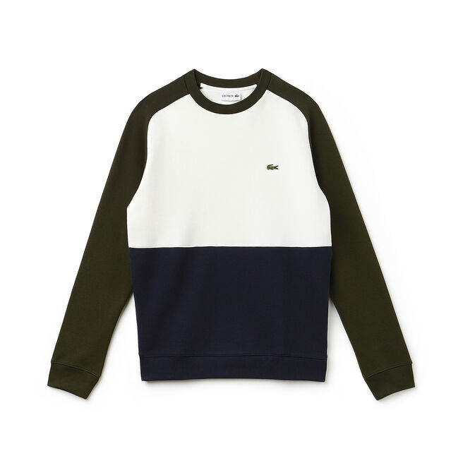 Sweatshirt en molleton piqué de coton color block