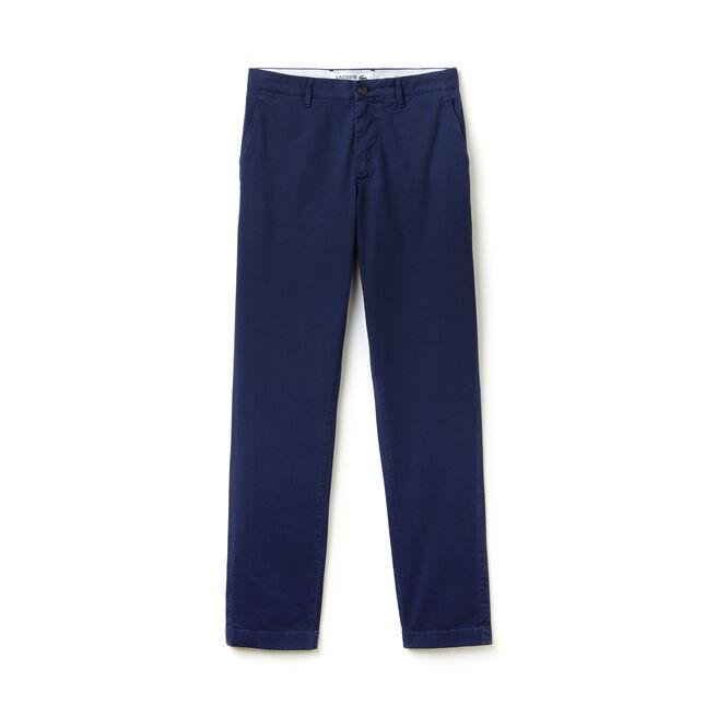 Pantalon chino slim fit en twill stretch imprimé