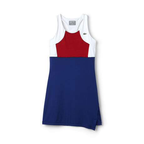 Robe dos nageur Tennis Lacoste SPORT en jersey technique color block