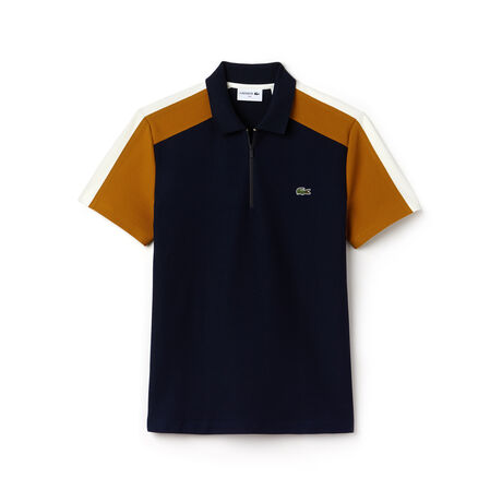 Polo regular fit Lacoste Made in France en piqué color block