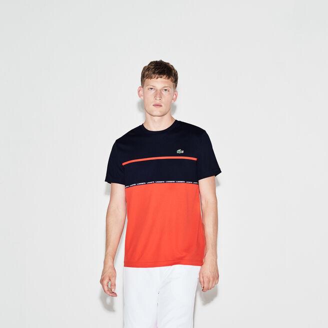 T-shirt Tennis Lacoste SPORT en piqué technique color block