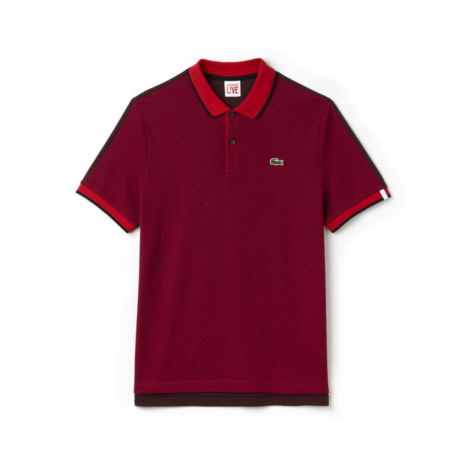 Polo slim fit Lacoste LIVE en maille de coton color block