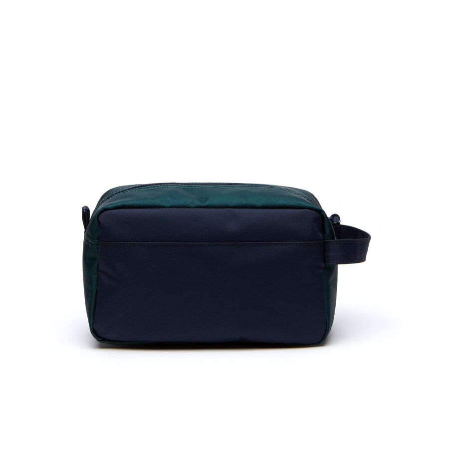 Trousse de toilette Néocroc color block avec écusson Lacoste
