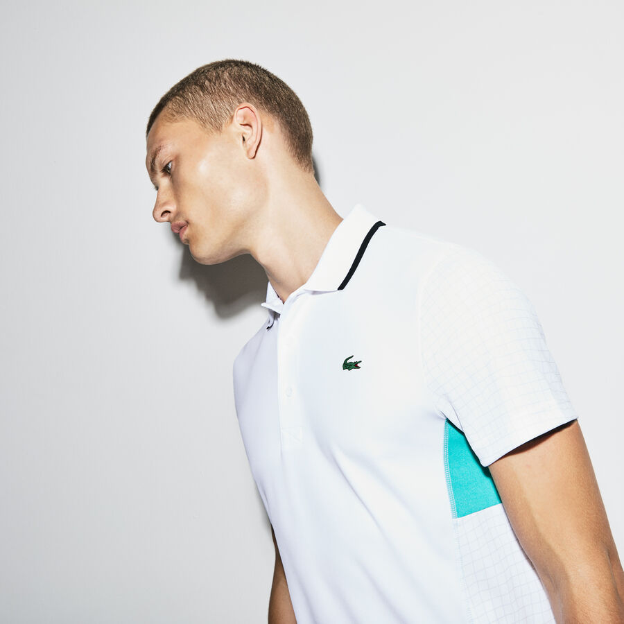 Polo Tennis Lacoste SPORT en piqué technique uni et imprimé filet