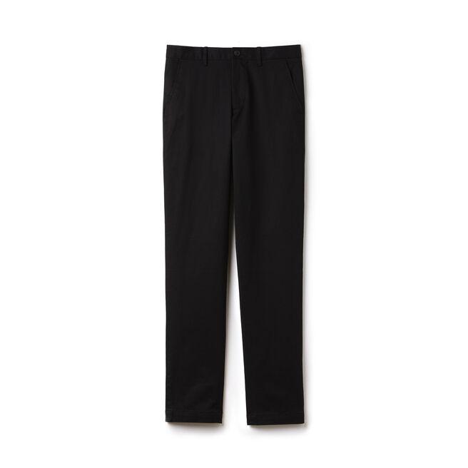 Pantalon chino slim fit en gabardine stretch unie