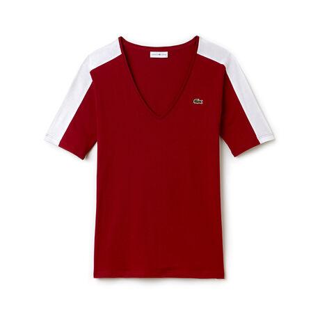 T-shirt col V Tennis Lacoste SPORT en jersey fluide