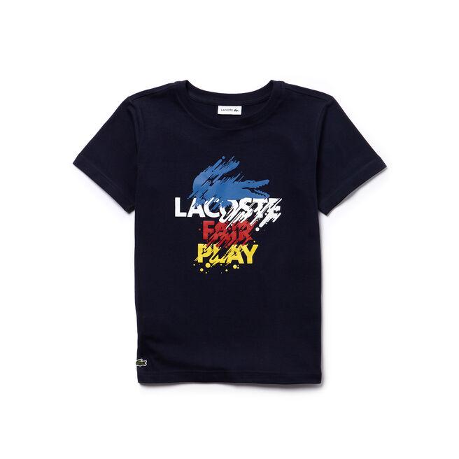 T-shirt Garçon en jersey avec wording coloré