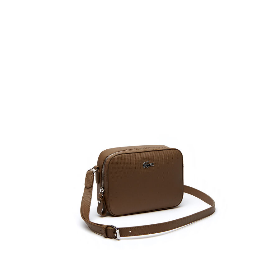 Women's Daily Classic Coated Piqué Canvas Square Cross Body Bag