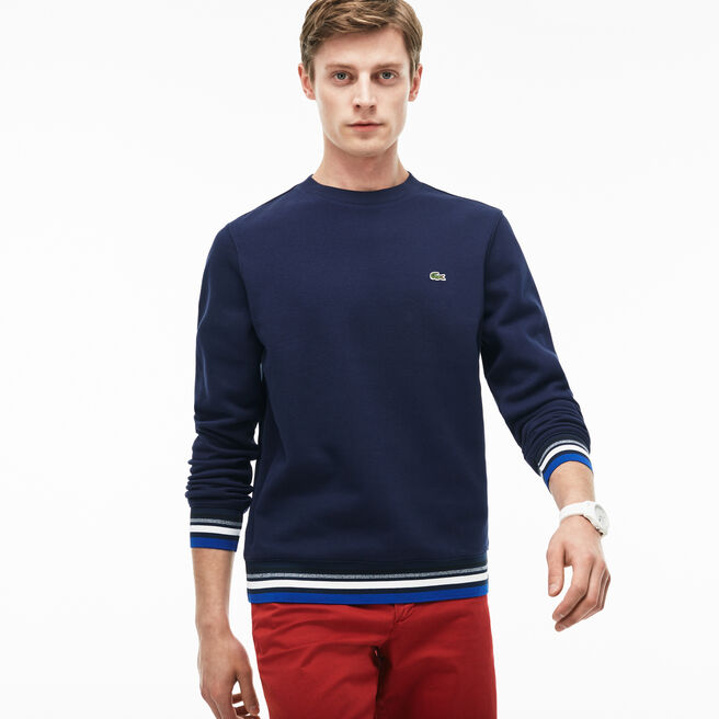 Men's Striped Accent Fleece Sweatshirt