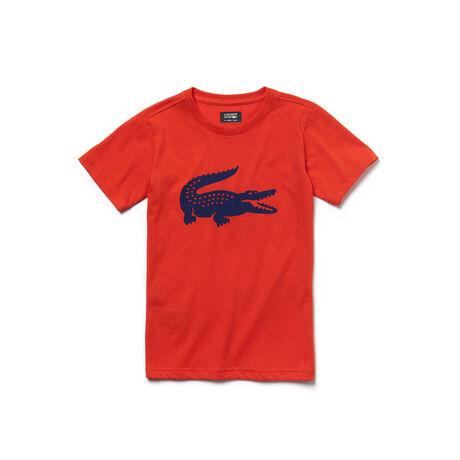 Boys' Lacoste SPORT Tennis Technical Jersey Oversized Croc T-shirt