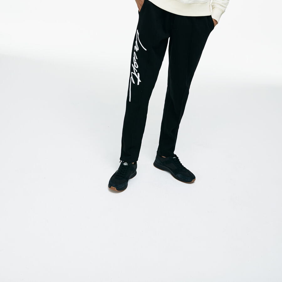 Unisex Lacoste LIVE Embroidered Fleece Urban Jogging Pants