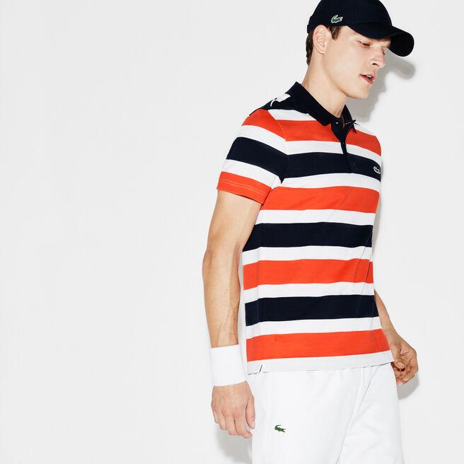 Men's Lacoste SPORT Tennis Ultra-Light Striped Knit Polo