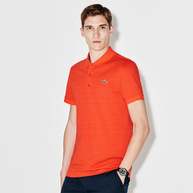 Men's Lacoste SPORT Golf Print Ultra-Lightweight Knit Polo