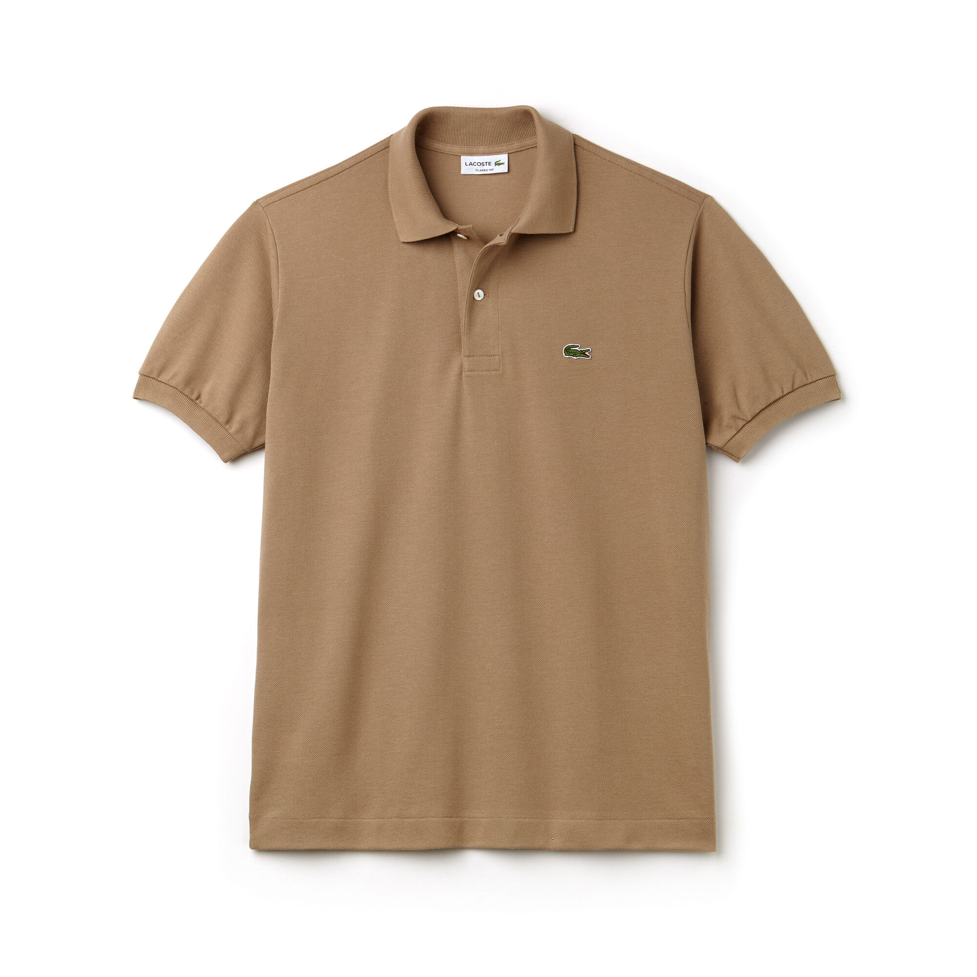 brown lacoste shirt