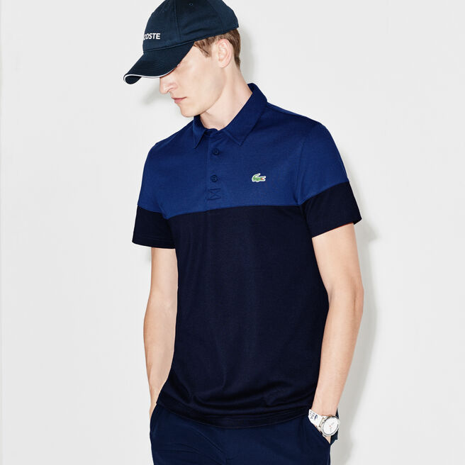 Men's Lacoste SPORT Golf Colorblock Technical Piqué Polo