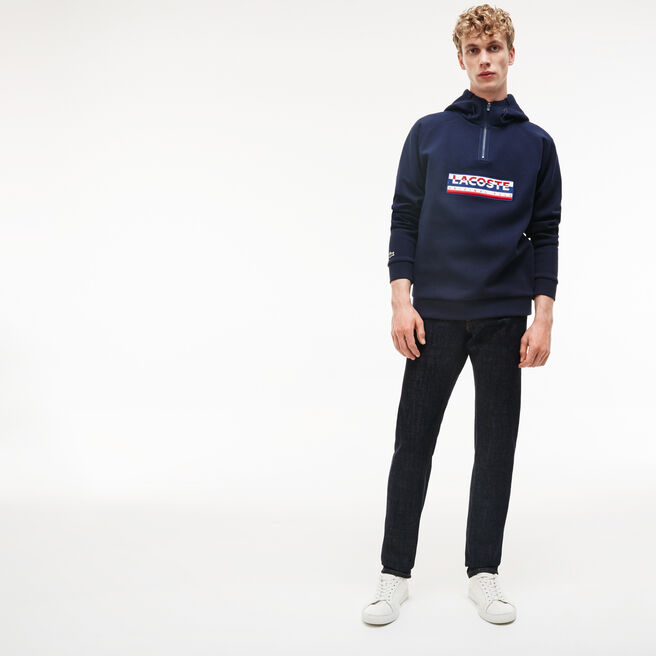 Men's Straight Cut Five-Pocket Cotton Denim Jeans