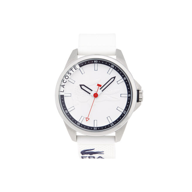 Capbreton watch with blue silicone strap and blue dial