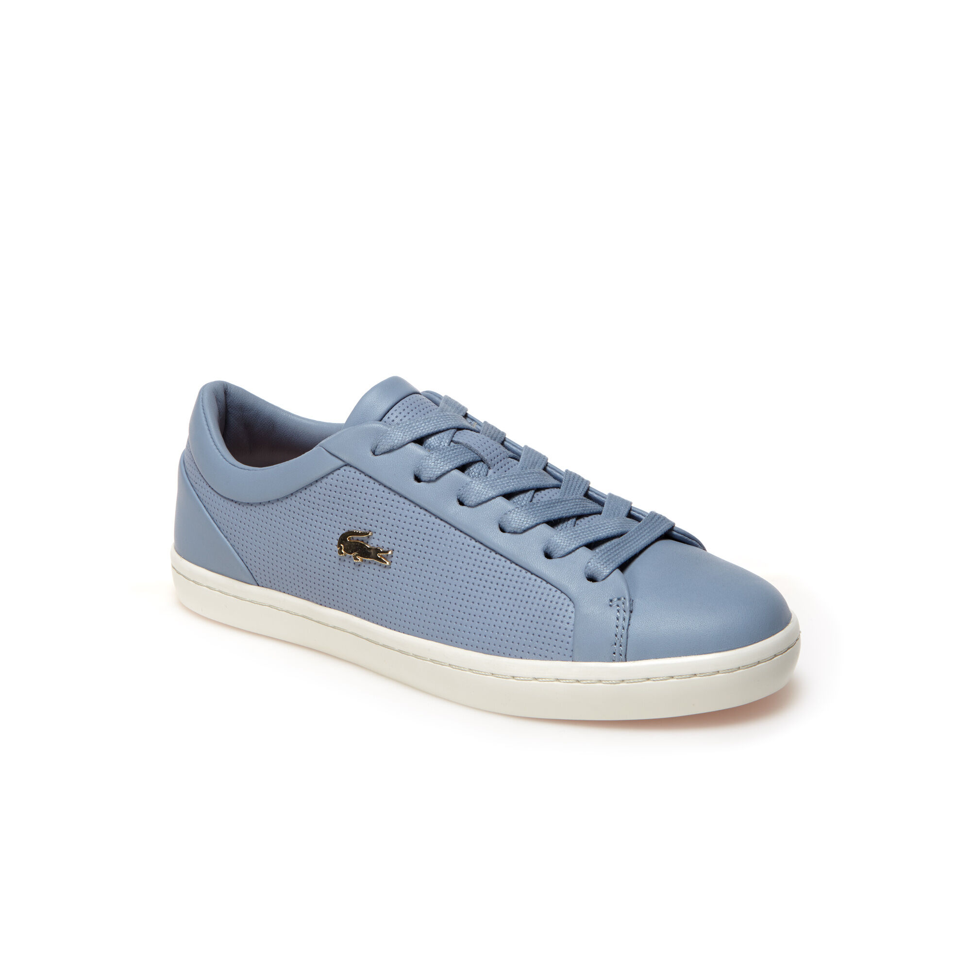 lacoste shoes gold crocidolite blue